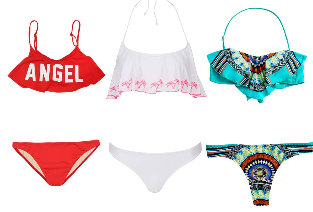 Swimsuit Trends, Flutter Top