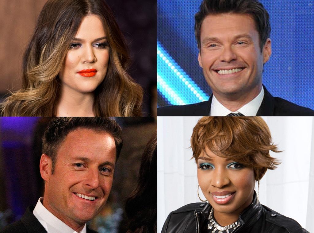 Ryan Seacrest, Nene Leakes, Chris Harrison, Khloe Kardashian