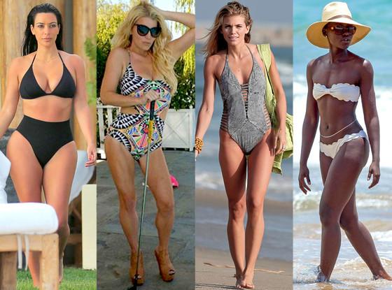 Kim Kardashian, Lupita Nyong'o, Jessica Simpson, Annalynne McCord, Bikini