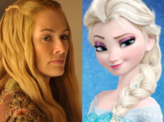 Lena Headey, Game of Thrones, Elsa, Frozen