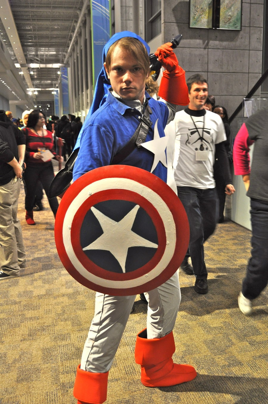 It American Teen Is: Captain Crappy Crossover From Captain America Cosplay So