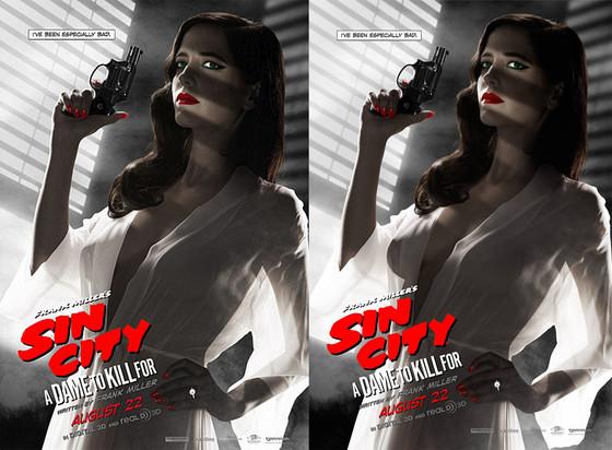 Eva Green, Sin City Poster, Edited