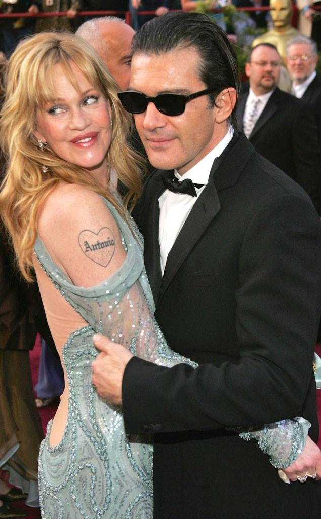 Melanie griffith et antonio banderas divorcent au bout de for Melanie griffith tattoo