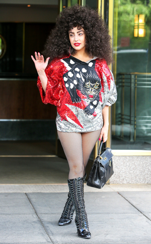 Lady Gaga Spotted With Wild Dark Curlscheck Out Her New Hairstyle