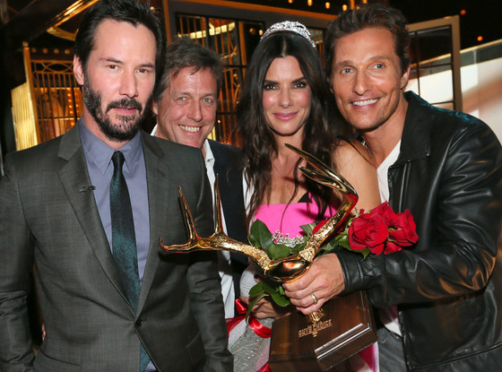 Keanu Reeves, Hugh Grant, Sandra Bullock, Matthew McConaughey, Guys Choice Awards