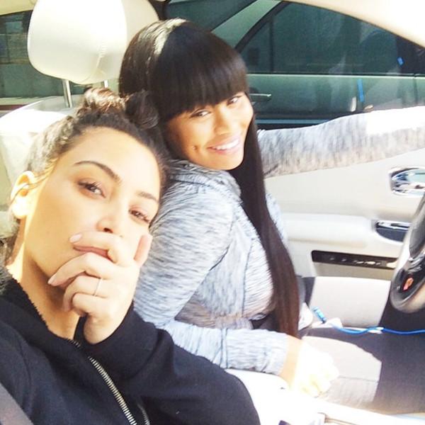 Kim Kardashian, Blac Chyna, Instagram