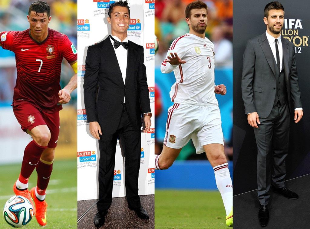 Cristiano Ronaldo, Gerard Pique, On and Off the Field