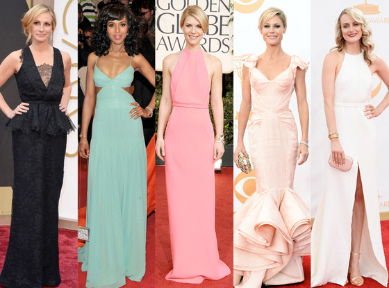 Emmy Noms Best Looks, Julia Roberts, Kerry Washington, Claire Danes, Julie Bowen, Taylor Schilling
