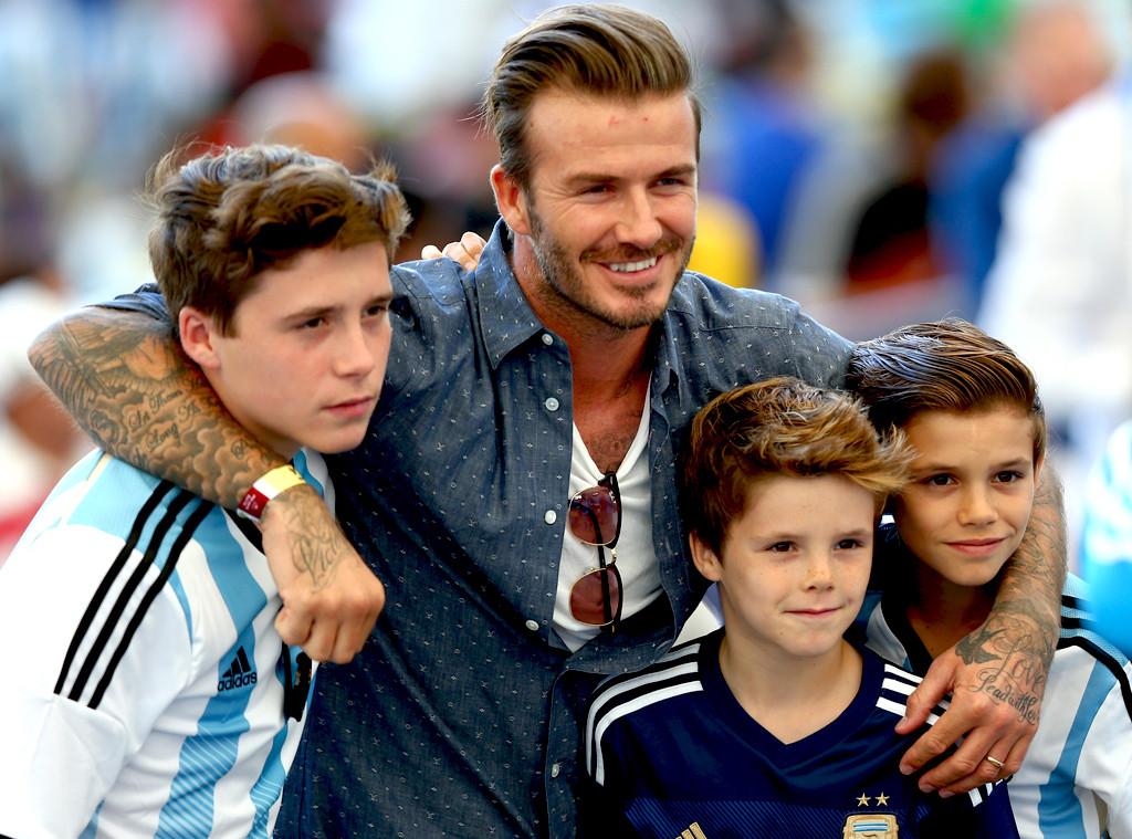 David Beckham, Brooklyn Beckham, Cruz Beckham, Romeo Beckham
