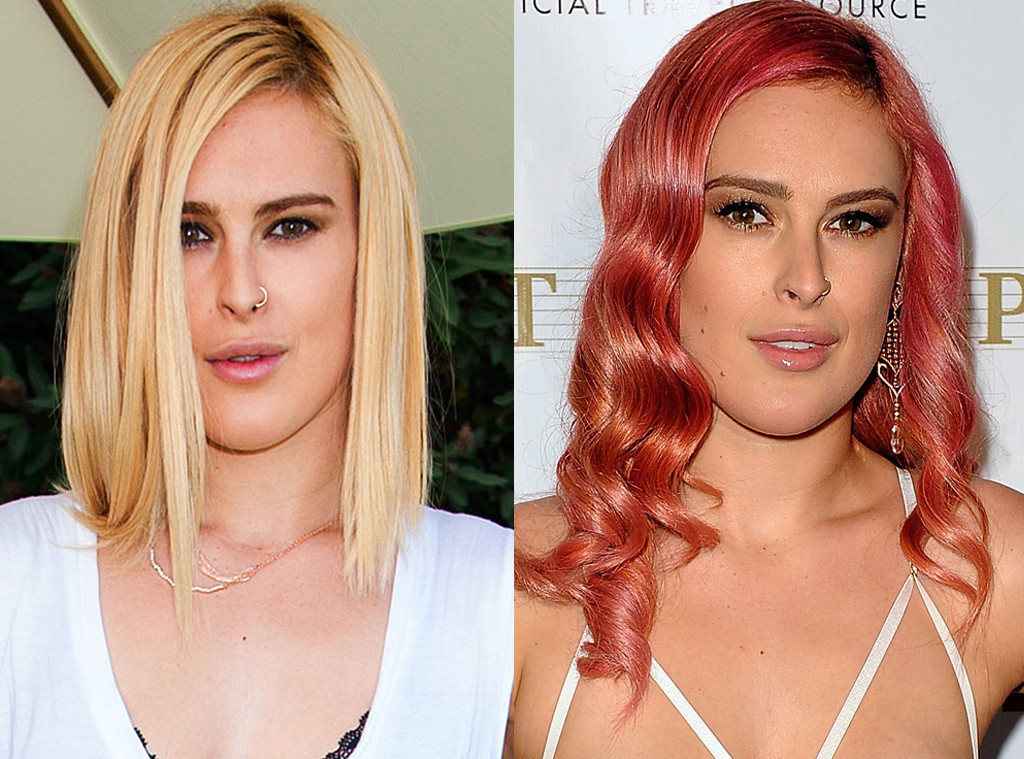 Rumer Willis, Blonde, Pink hair
