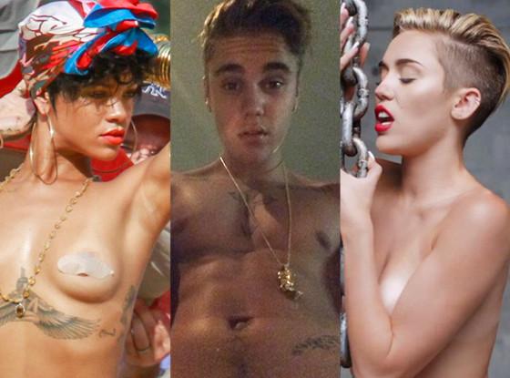 Rihanna, Justin Bieber, Miley Cyrus