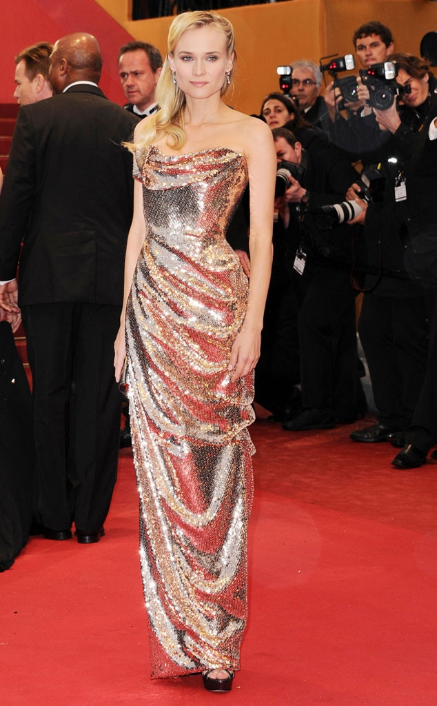 Diane Kruger -  Kruger lights up the Cannes Film Festival with this blinding number. From the body-hugging material to the strapless design, this gown is truly a sight to see.