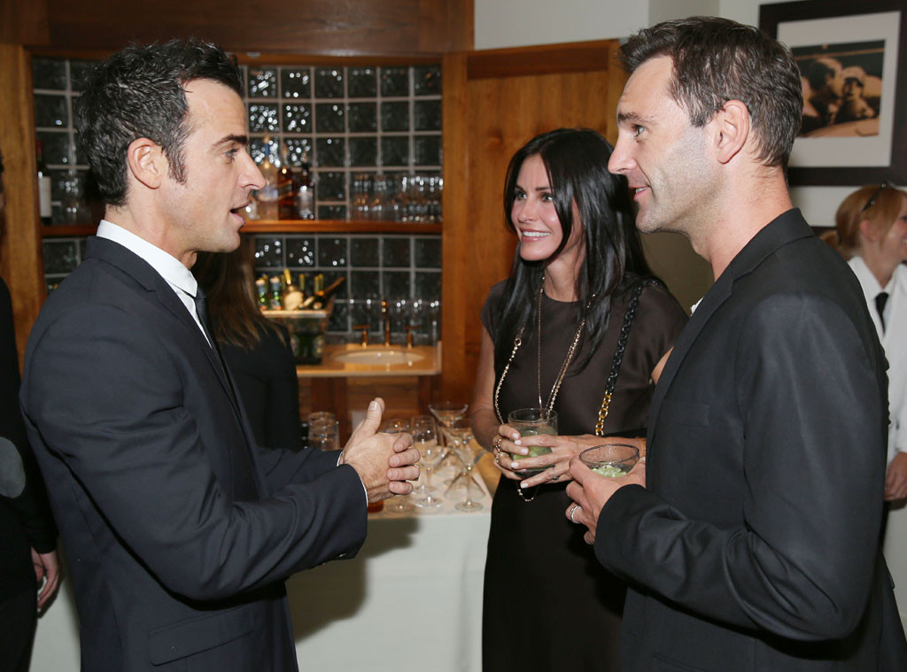 Justin Theroux, Courteney Cox, Johnny McDaid