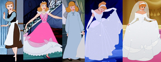 Cinderella, Disney Princesses Wardrobe