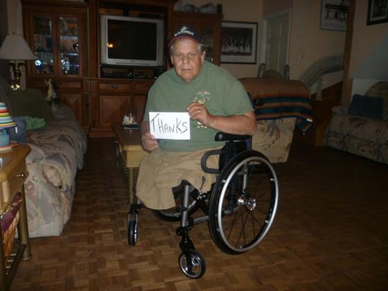 Michael Sulsona, Lowes, Wheelchair