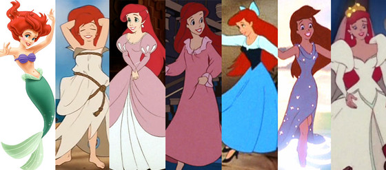 Ariel, The Little Mermaid, Disney Princesses Wardrobe