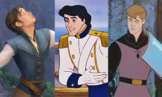 Flynn Rider, Tangled, Prince Eric, Little Mermaid, Prince Phillip, Sleeping Beauty