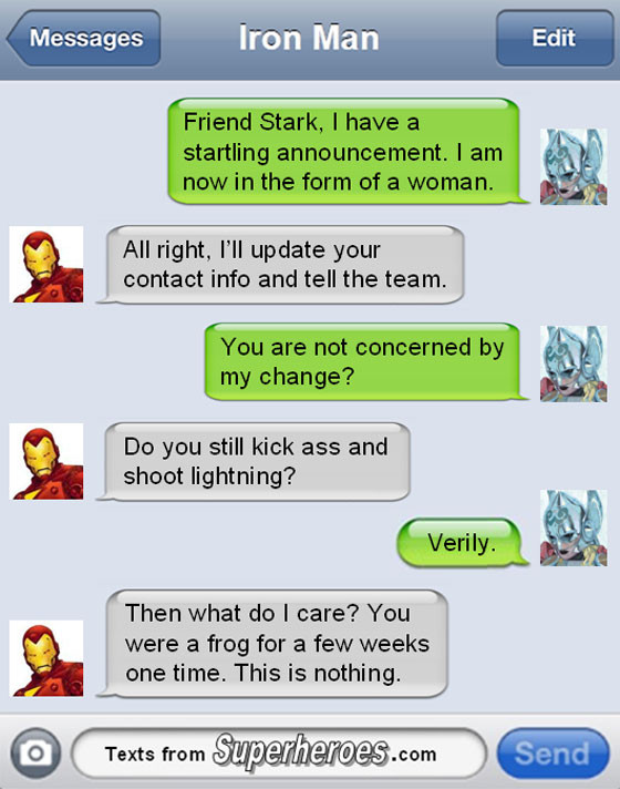 Superheroes Texts