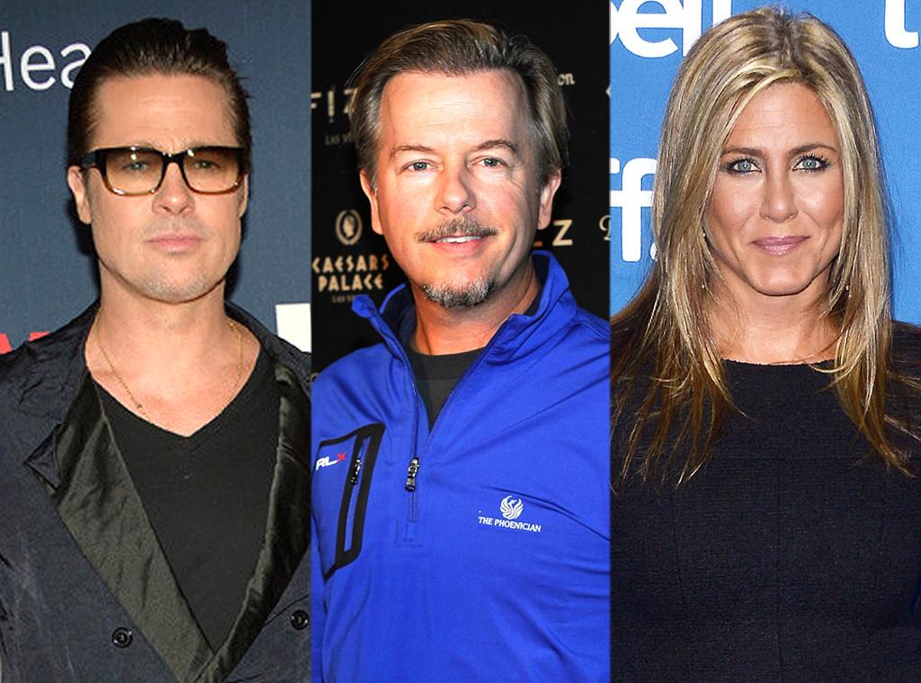 Brad Pitt, Jennifer Aniston, David Spade