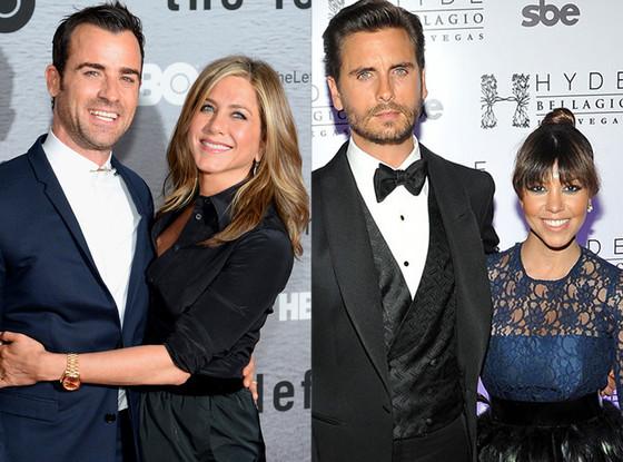 Justin Theroux, Jennifer Aniston, Scott Disick, Kourtney Kardashian, Summer Couples