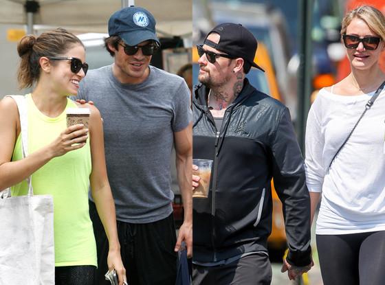Ian Somerhalder, Nikki Reed, Cameron Diaz, Benji Madden, Summer Couples
