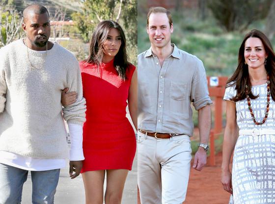 Prince William, Kate Middleton, Kim Kardashian, Kanye West, Summer Couples