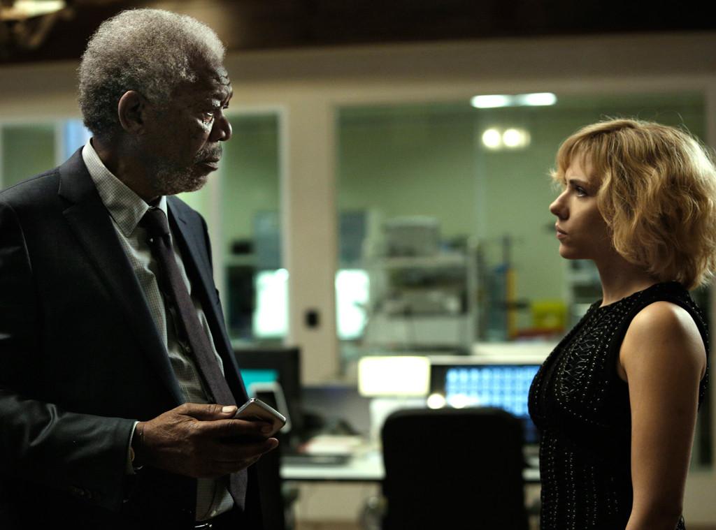Morgan Freeman, Scarlett Johansson, Lucy