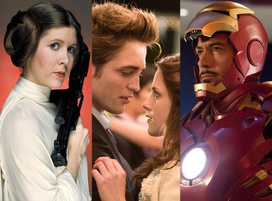Twilight, Iron Man, Star Wars