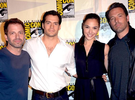 Zack Snyder Henry Cavill Gal Gadot Ben Affleck