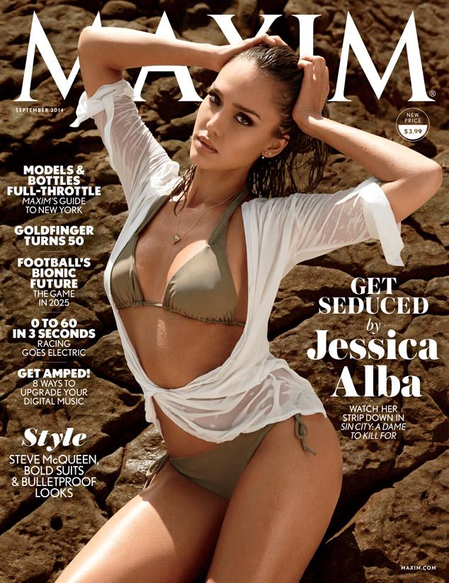 33079bde0f5cd Jessica Alba Sizzles in Sexy Bikini on Maxim Cover
