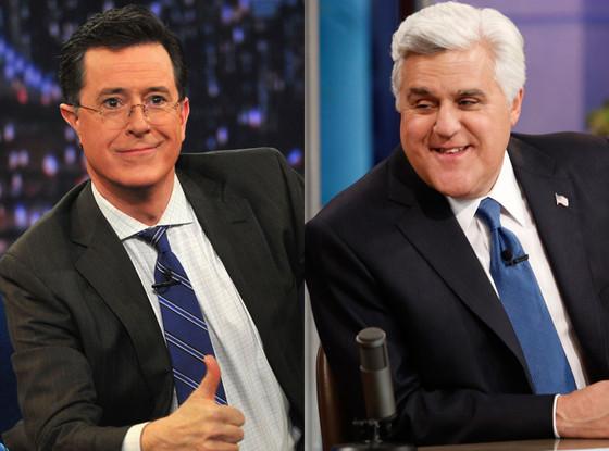 Stephen Colbert, Jay Leno
