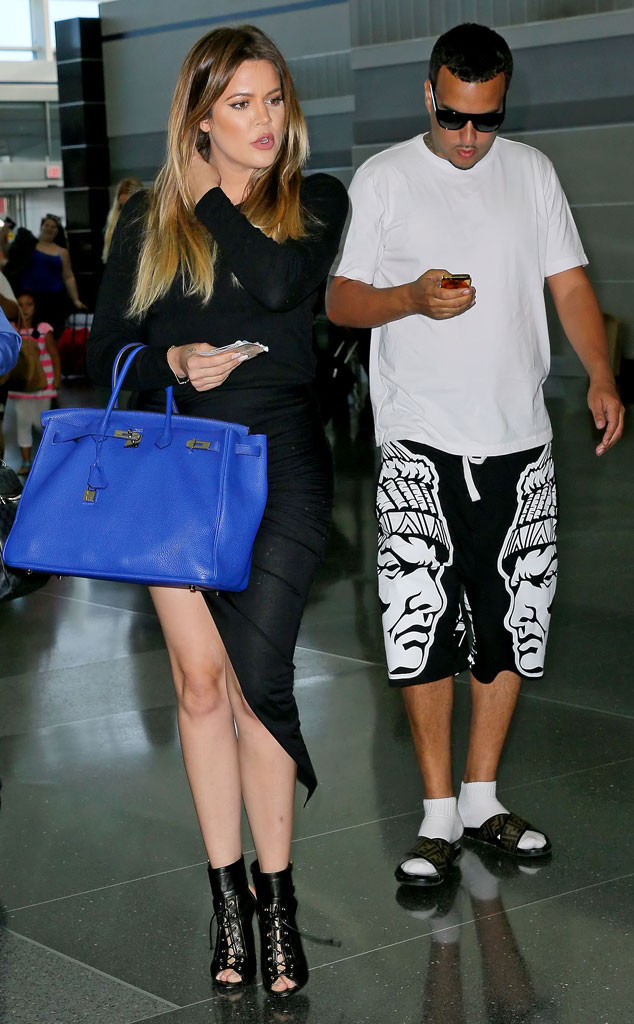 Khlo 233 Kardashian And French Montana Spend Airport Downtime