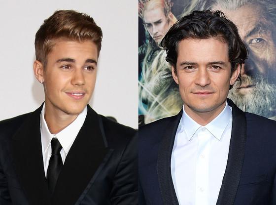 Justin Bieber, Orlando Bloom