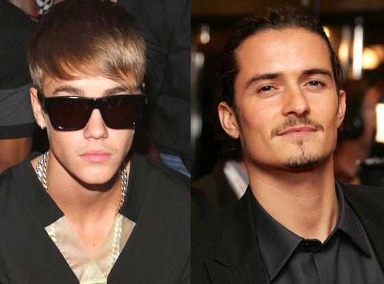 Justin Bieber, Orlando Bloom, Scruff