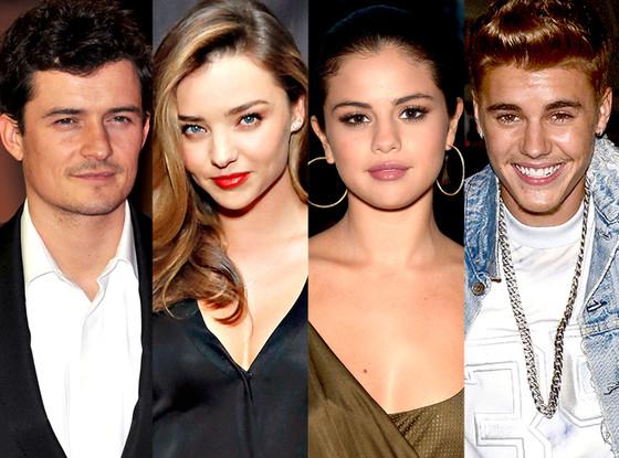 Orlando Bloom, Miranda Kerr, Selena Gomez, Justin Bieber