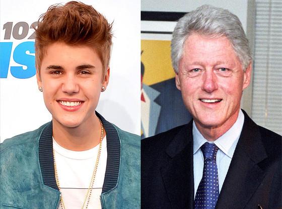 Bill Clinton, Justin Bieber