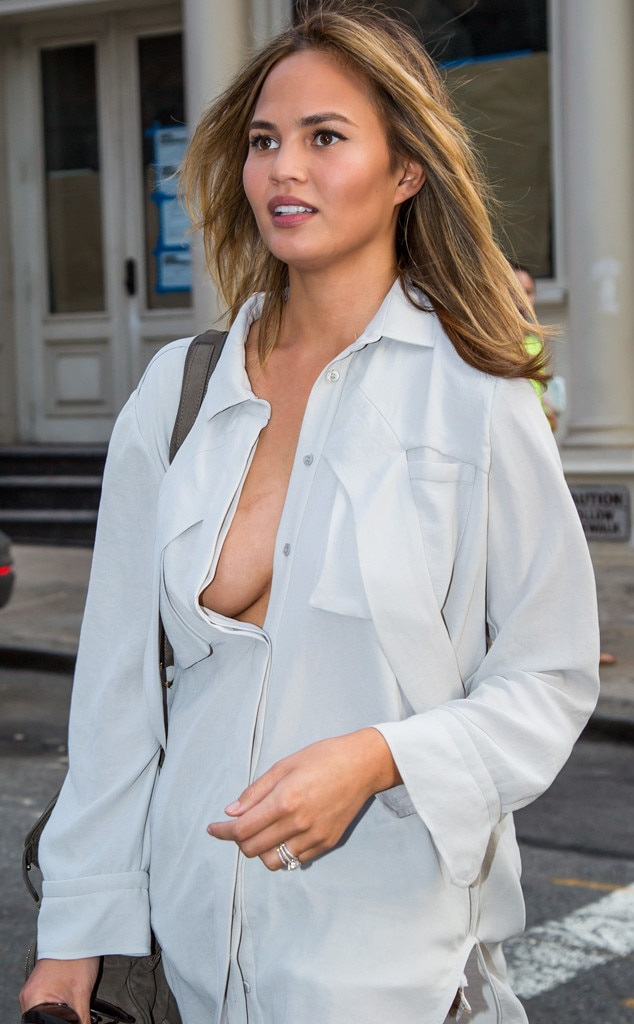 Braless In The City From Chrissy Teigens Sexiest Pics  E -8718