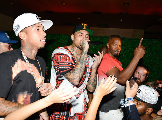 Chris Brown, Tyga, Jamie Foxx