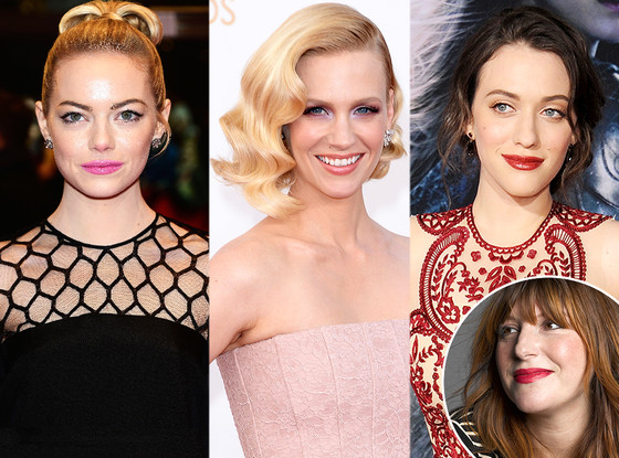 January Jones, Emma Stone, Kat Dennings, Rachel Goodwin, Glam Squad