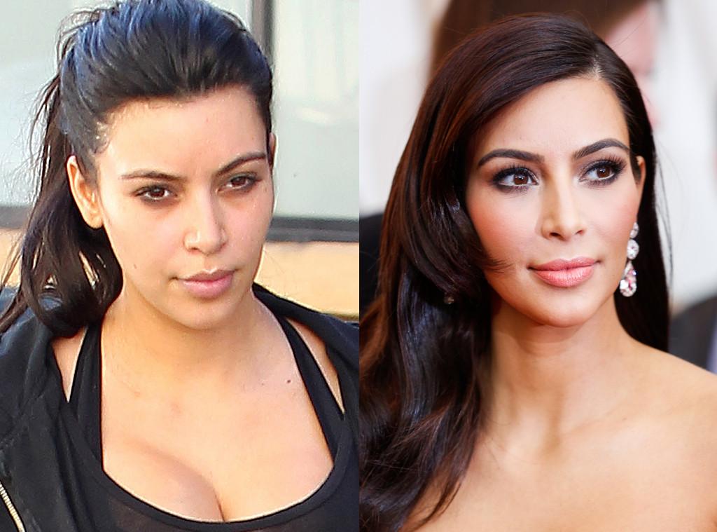 Kim Kardashian, No Makeup