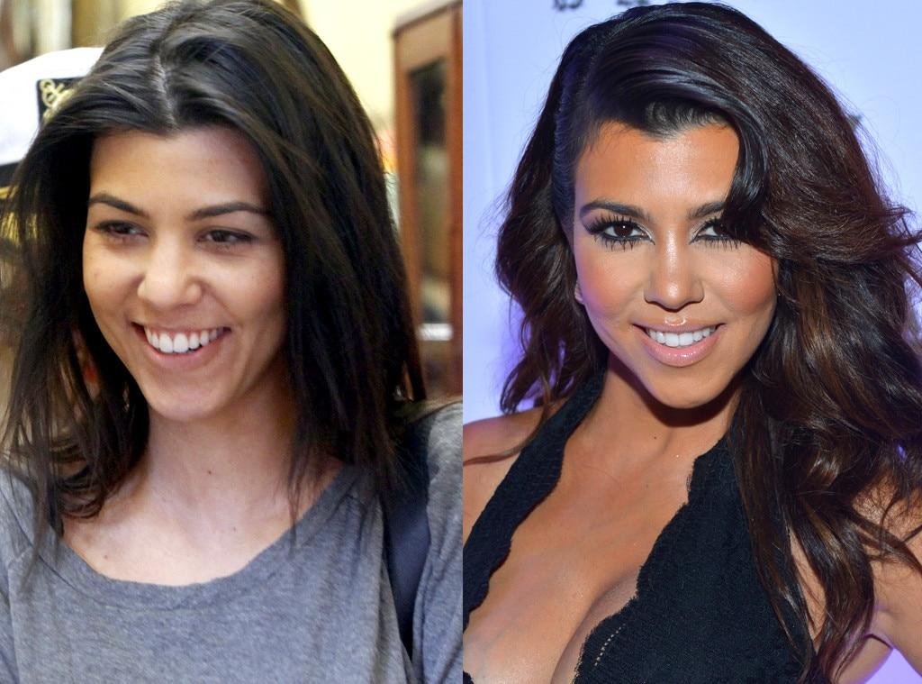 Kourtney Kardashian, No Makeup
