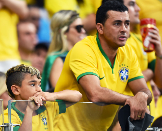 Sad Brazil Fans, World Cup 2014