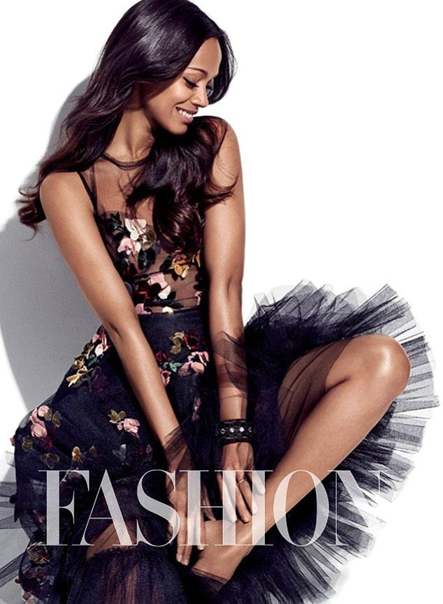 Zoe Saldana, Fashion Magazine