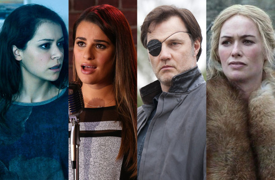 TV Award Winners, Tatiana Maslany, Lea Michele, David Morrissey, Lena Headey