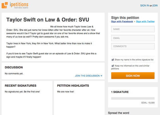 Online petitions