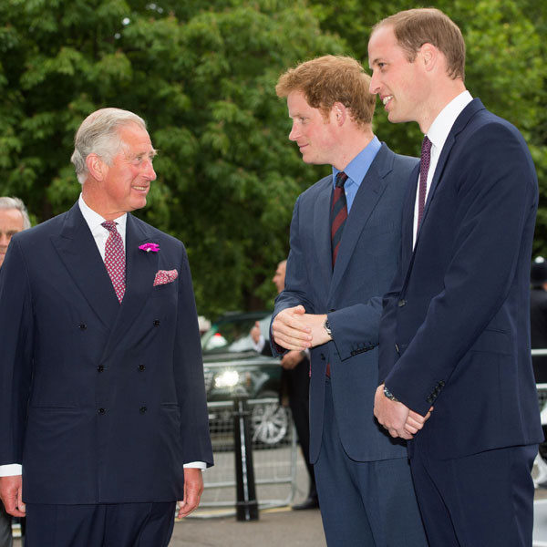 Prince Charles, Prince of Wales, Prince Harry, Prince William, Duke of Cambridge