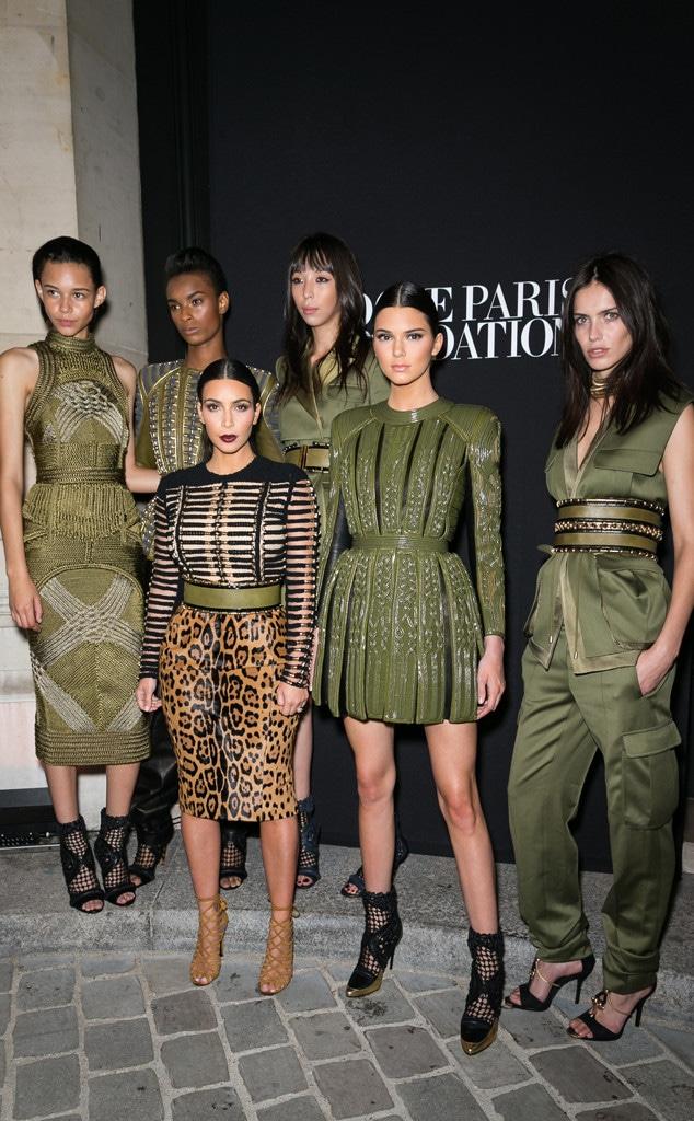 Kim Kardashian, Kendall Jenner, Balmain