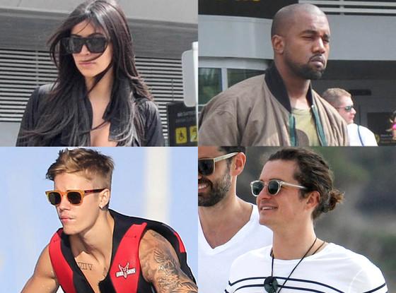 Kim Kardashian, Kanye West, Orlando Bloom, Justin Bieber