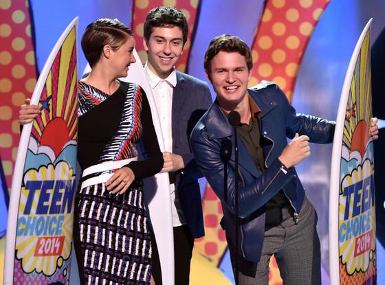 Shailene Woodley, Nat Wolff, Ansel Elgort, Teen Choice Awards