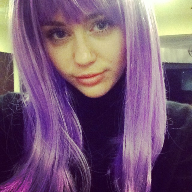 Miley Cyrus Wigs Out